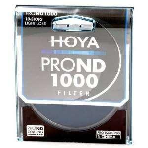 Filtro Hoya PRO ND 500 9 stops light loss 62mm diam