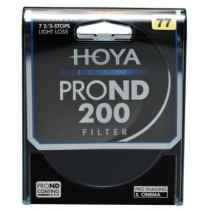 Filtro Hoya PRO ND 200 8 stops light loss 82mm diam