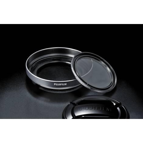 Fujifilm LHF-X20 X10  Paraluce e Filtro  Protettivo Silver