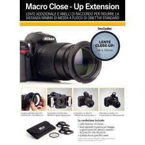 Agno's Reflex Macro Close-Up Lente +4 con adattatori x foto Macro