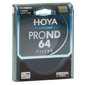Filtro Hoya PRO ND64 6 stops 82mm light loss