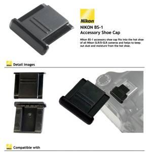 Nikon BS-1 Black copri slitta per Nikon  Originale