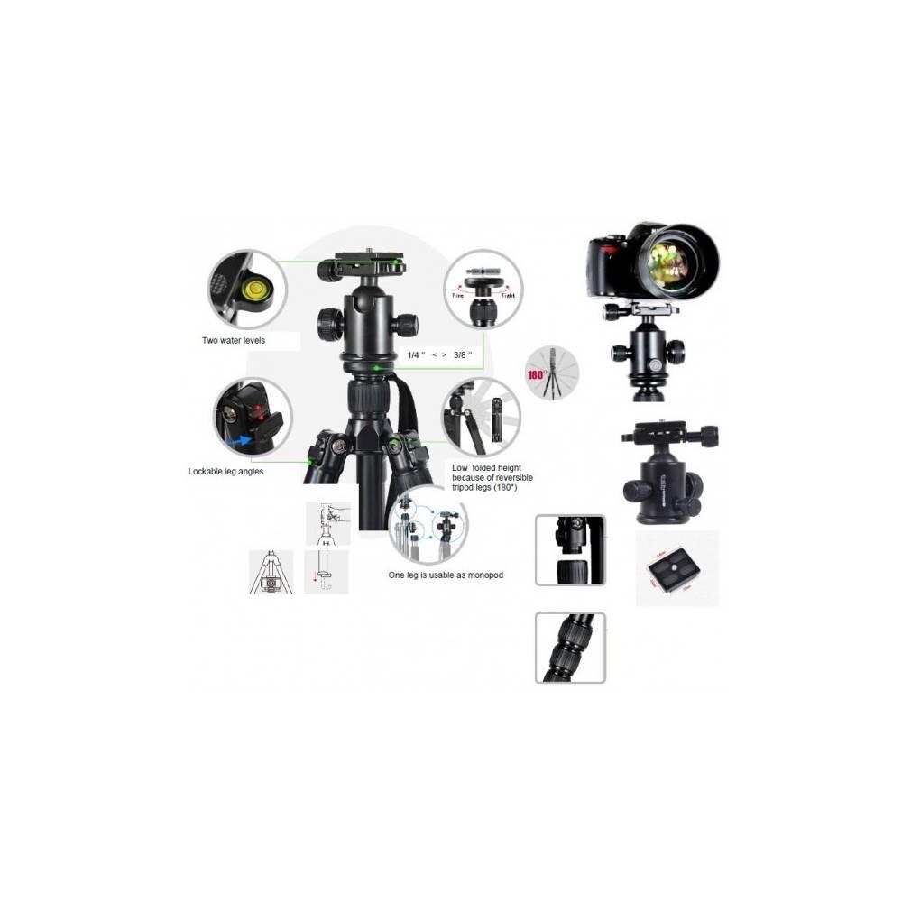 Details about Braun Nox 180 Tripod Professional 20552 Photo Video