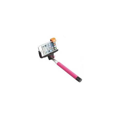 Braun Fun Selfie Stick Wireless Pink Asta Allungabile Fino 100 cm