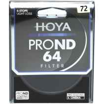 Filtro Hoya PRO ND64 6 stops 72mm light loss