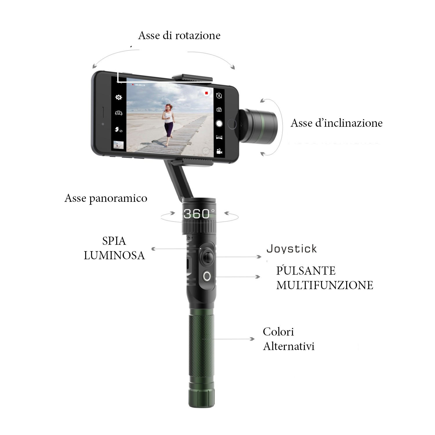 Hohem T2 3-axis Gimbal per GoPro 5/4/3/2 Plus  Action Camera