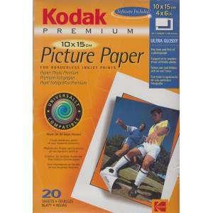 Kodak Paper Carta inkjet prints ultra glossy 10x15mm