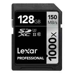 Lexar 128GB 1000X Pro UHS-II  SDHC 150MB/s Card Class 10