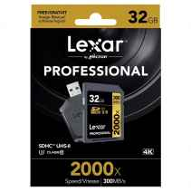 Lexar SDHC 32GB 2000X UHS-II SD with READER USB 4K PROFESSIONAL