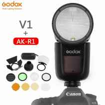 GODOX V1 C + AK-R1 Kit per CANON FLASH TTL