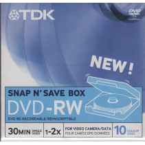 TDK SNAP N' SAVE BOX DVD-RW 30 MIN 1.4 GB