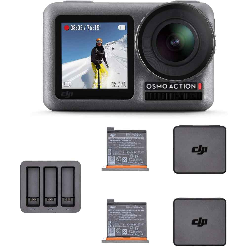 DJI OSMO Action with Osmo Action Charging Kit CARICABATTERIA