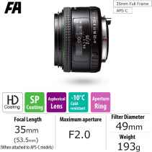PENTAX RICOH HD 35mm F2 FA LENS