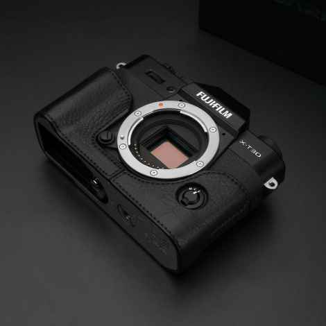 BLACK LEATHER CAMERA HALF CASE XS-CHXT30BK FOR FUJI FUJIFILM X-T10 X-T20 X-T30