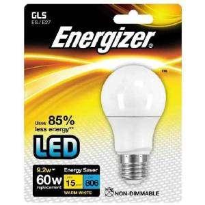 ENERGIZER S8705 Lampadina LED 60W Bianco 9,2W WARM WHITE E27