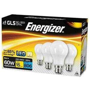 ENERGIZER 4 Lampadine LED 60W