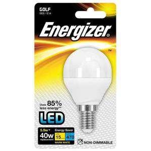 ENERGIZER S8697 Lampadina LED 40W Bianco 5,9W WARM WHITE E14 GOLF
