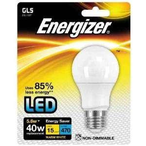 ENERGIZER S8703 Lampadina LED 40W Bianco 5,6W WARM WHITE E27