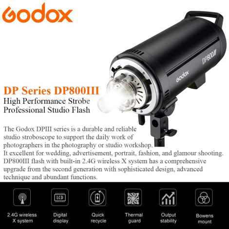 Godox DP800III Flash Monotorcia 800W Professionale
