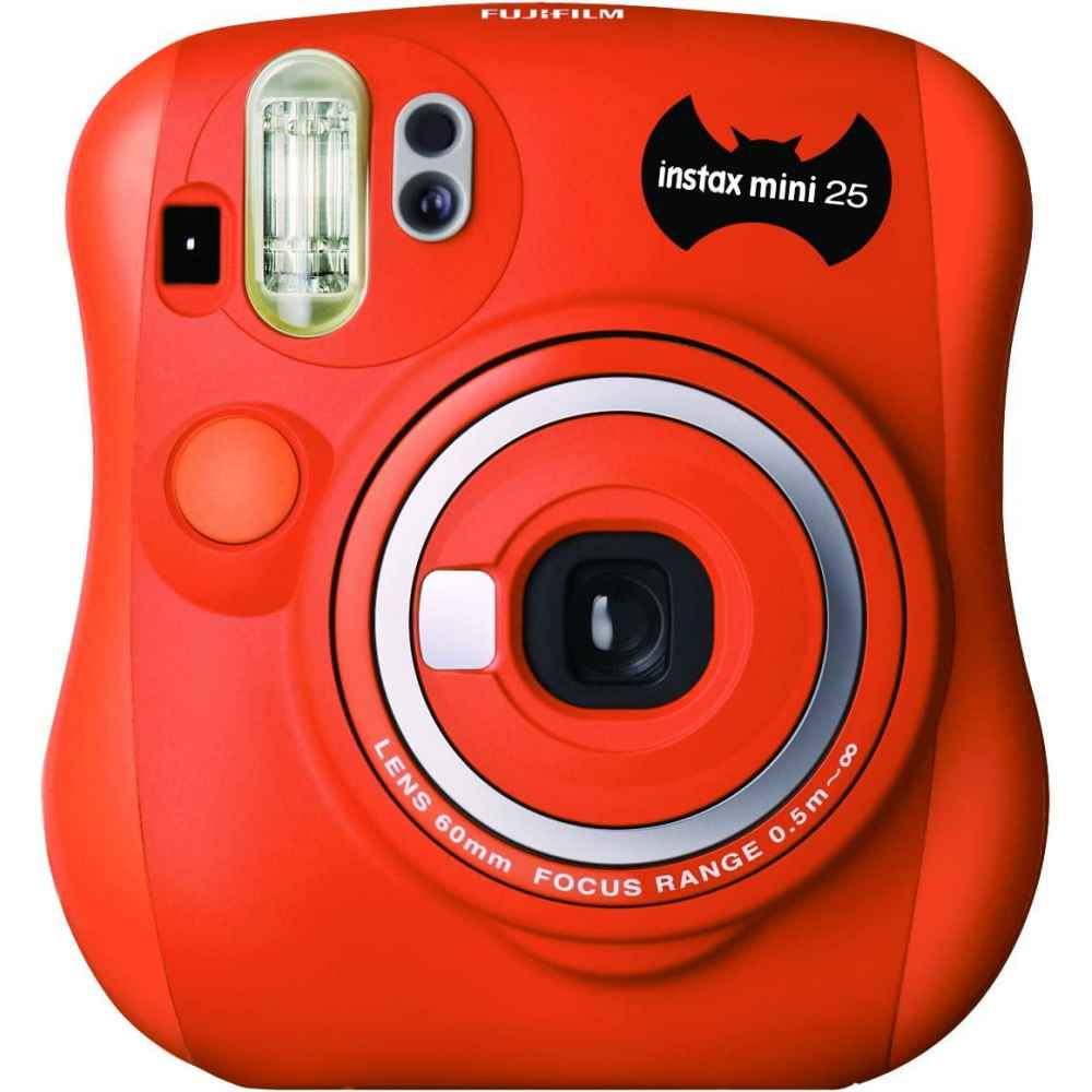Fujifilm Instax Mini 25 Halloween orange instant camera