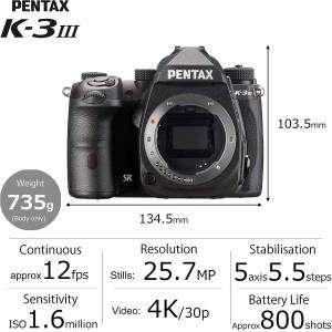 Pentax K3 Mark III Body Black