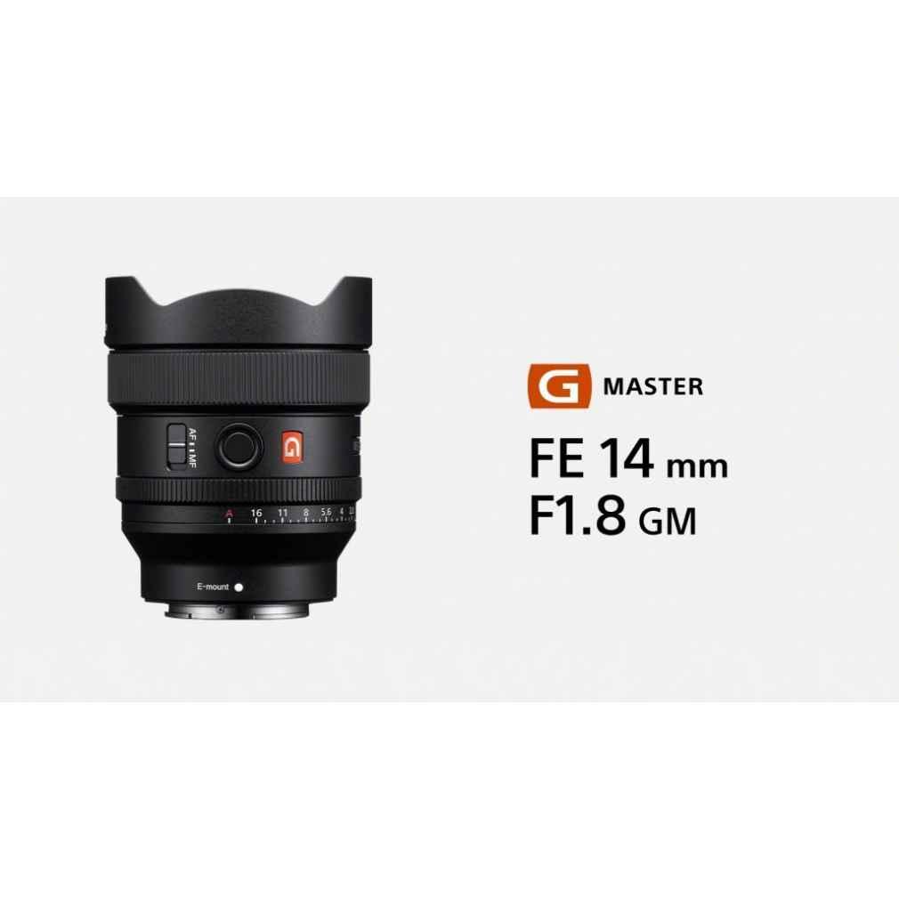 Sony G Master FE 14mm F1.8 GM Full Frame E-mount SEL14F18GM