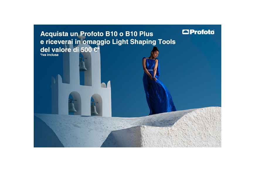 Acquista un Profoto B10 o B10 Plus e ricevi Light Shaping Tools del valore di 500 €